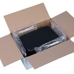 Suptertube inflatable packaging shown securing an item using the block and brace method.